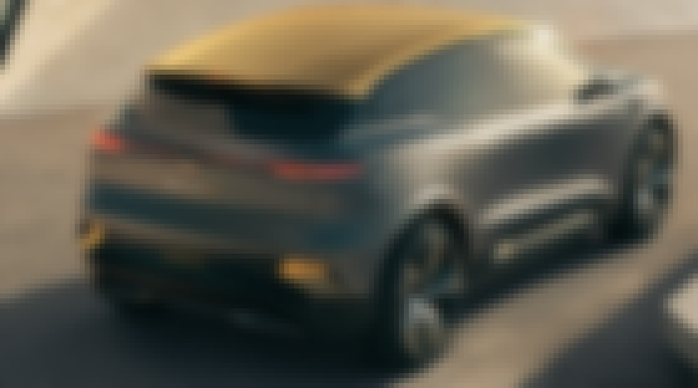 Renault MEGANE eVISION viewed from the back