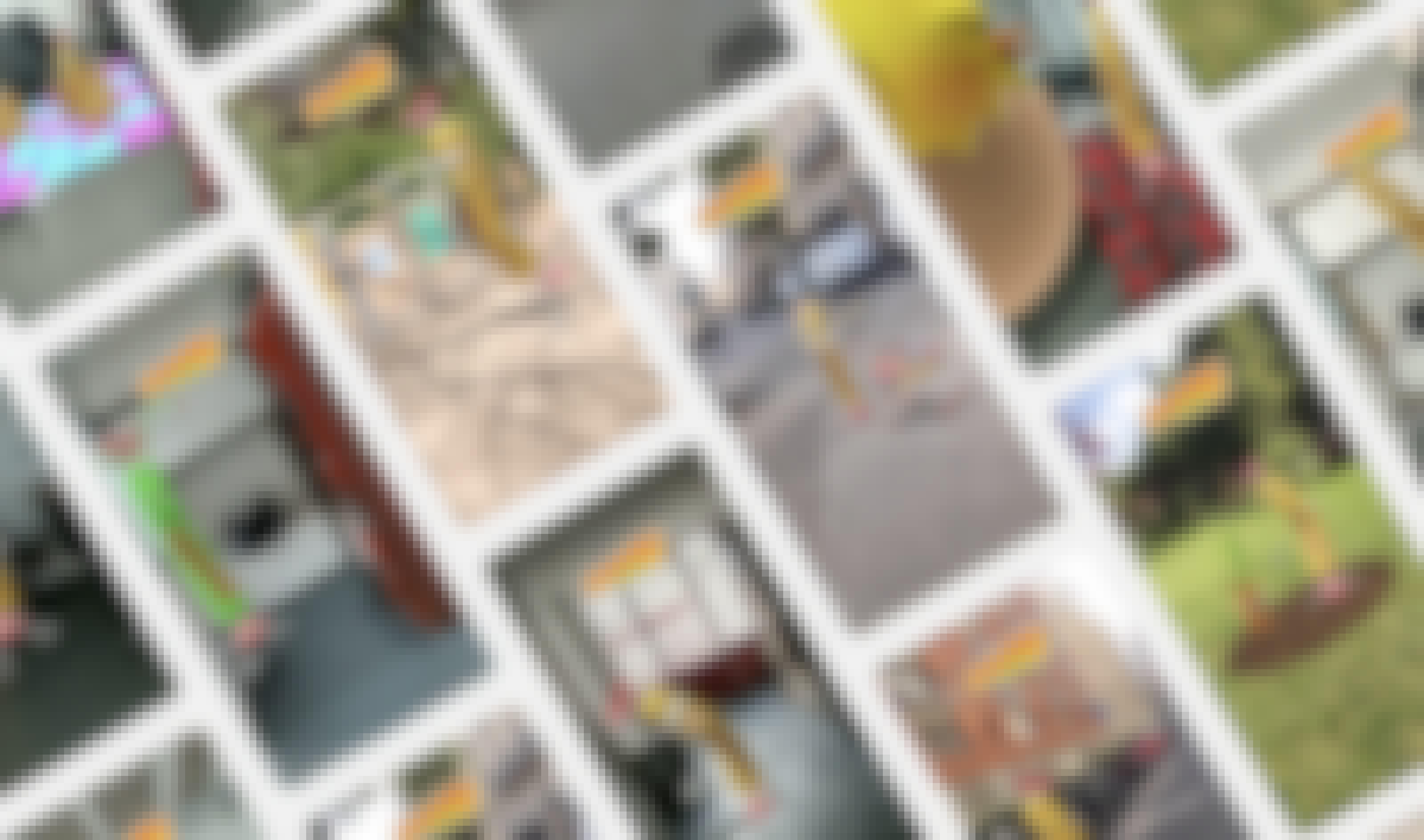 Mosaic of the lenses snapchat for Carambar
