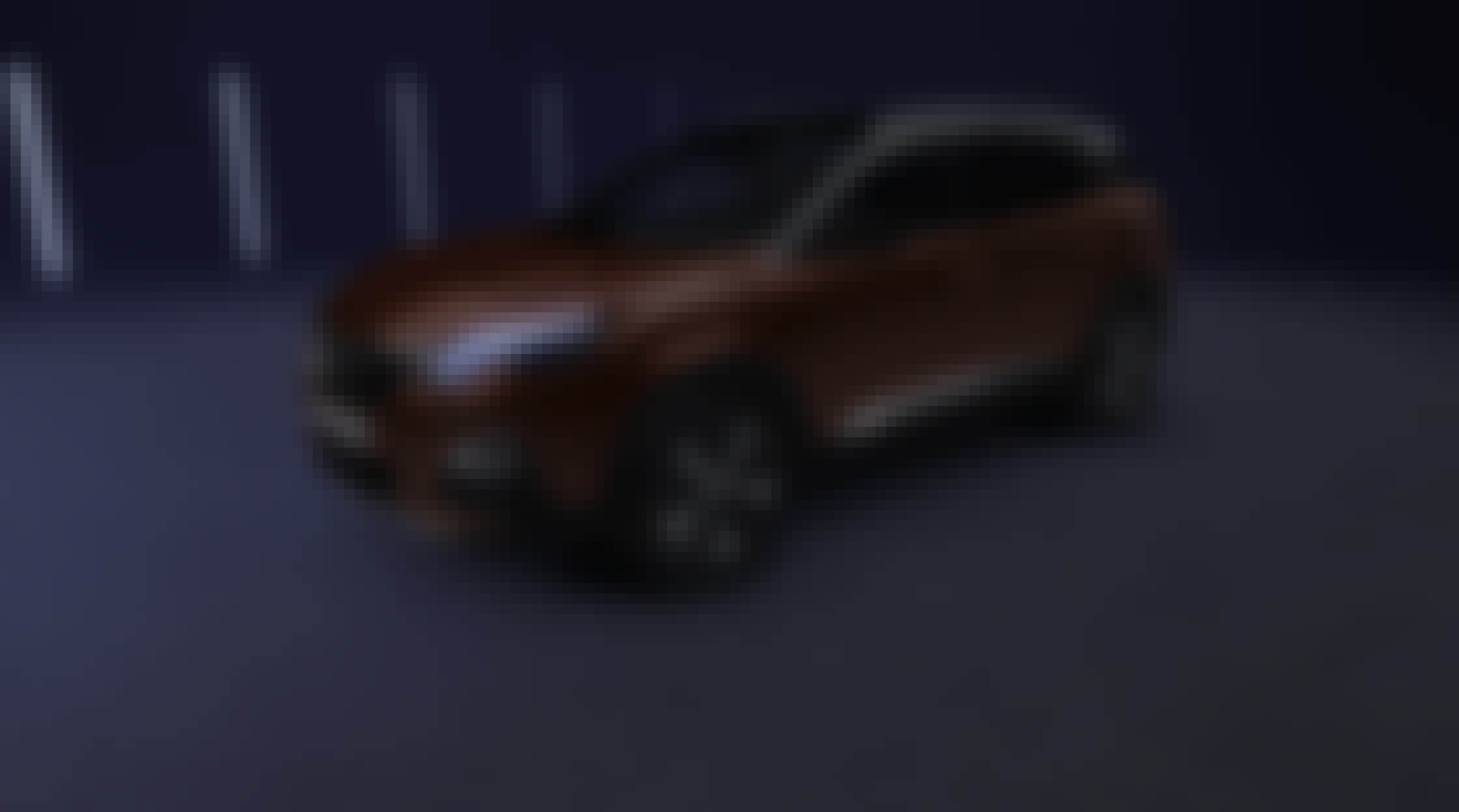 Brown Peugeot 3008 in the dark