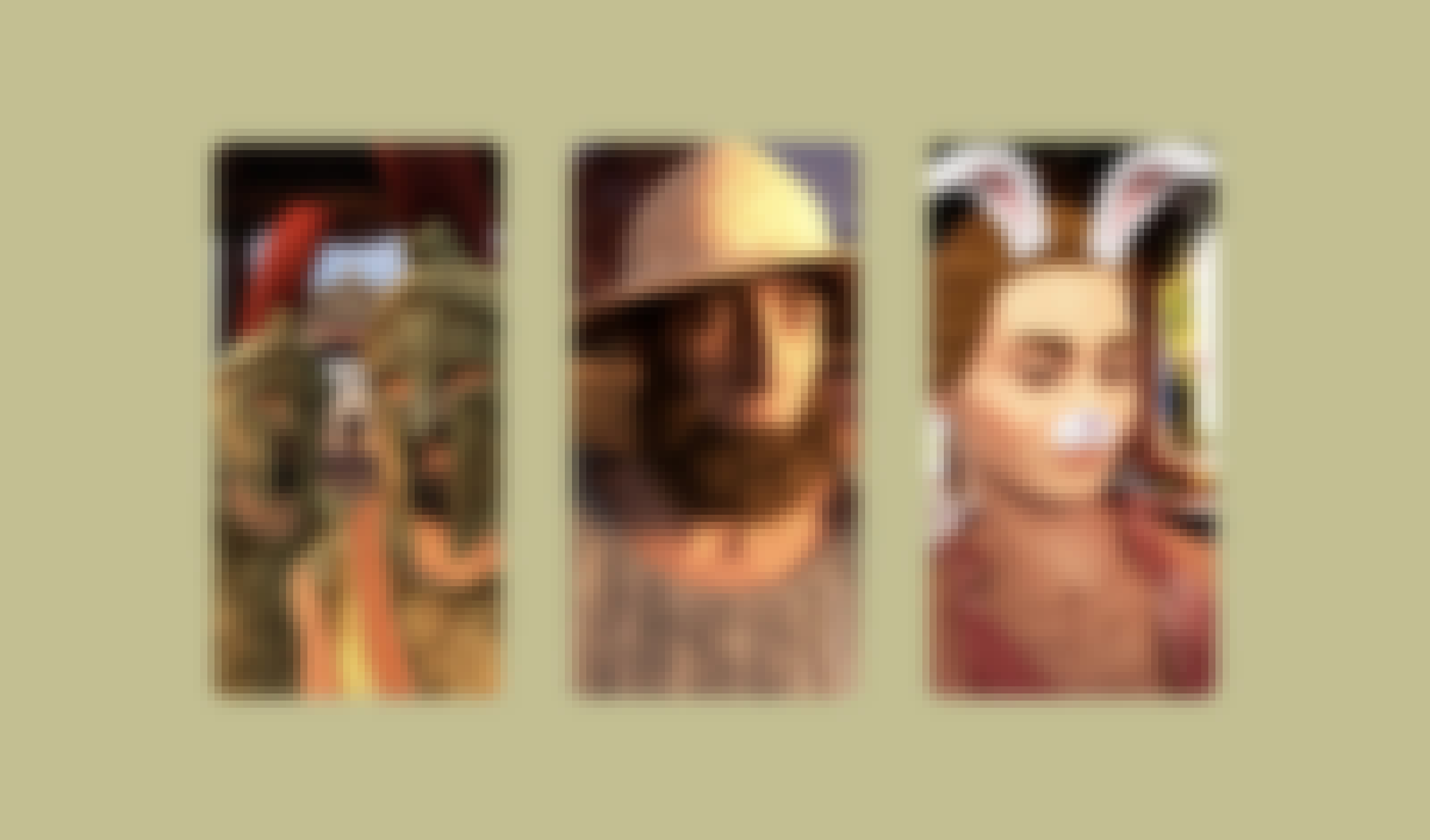 3 pictures of non-playable characters in Assassin's Creed Odyssey