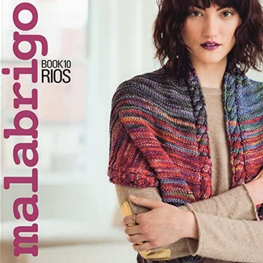malabrigo book 10 - cover girl with a knitted vest