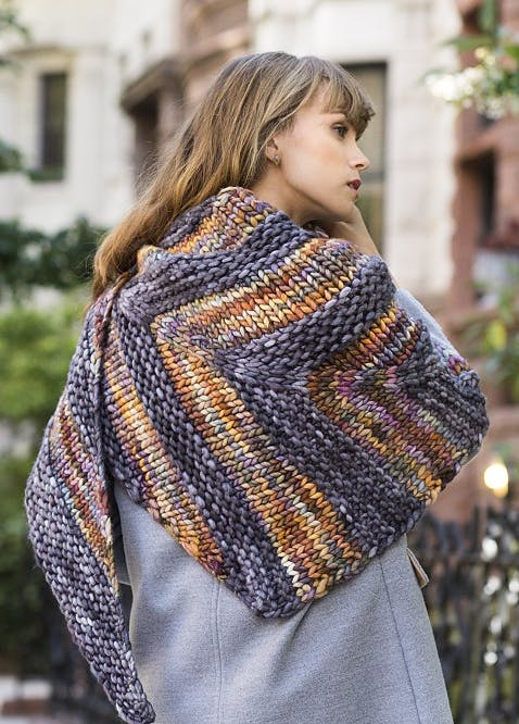 Degraw shawl - rasta