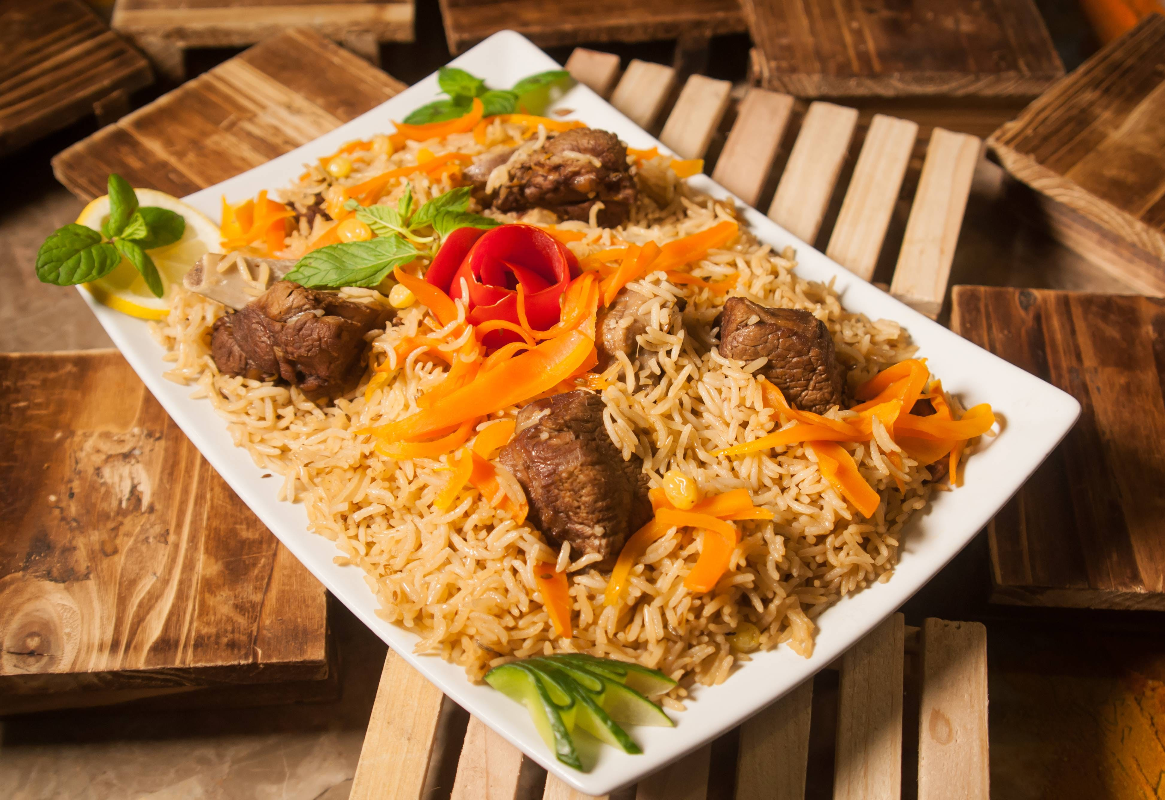 KABULI PULAO IS LAVISHLY TASTEFUL AS MADE WITH STEAMED RICE IN THE BEEF