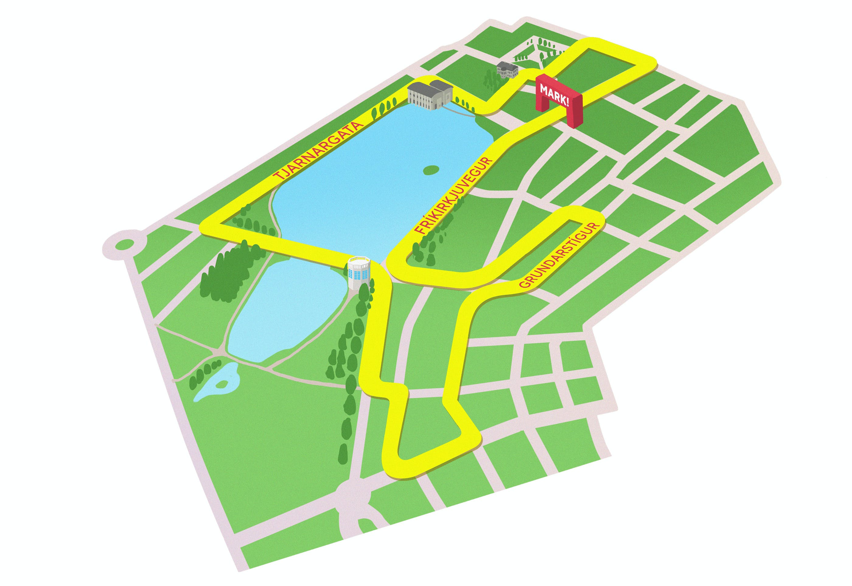 Map for the 3 km fun run
