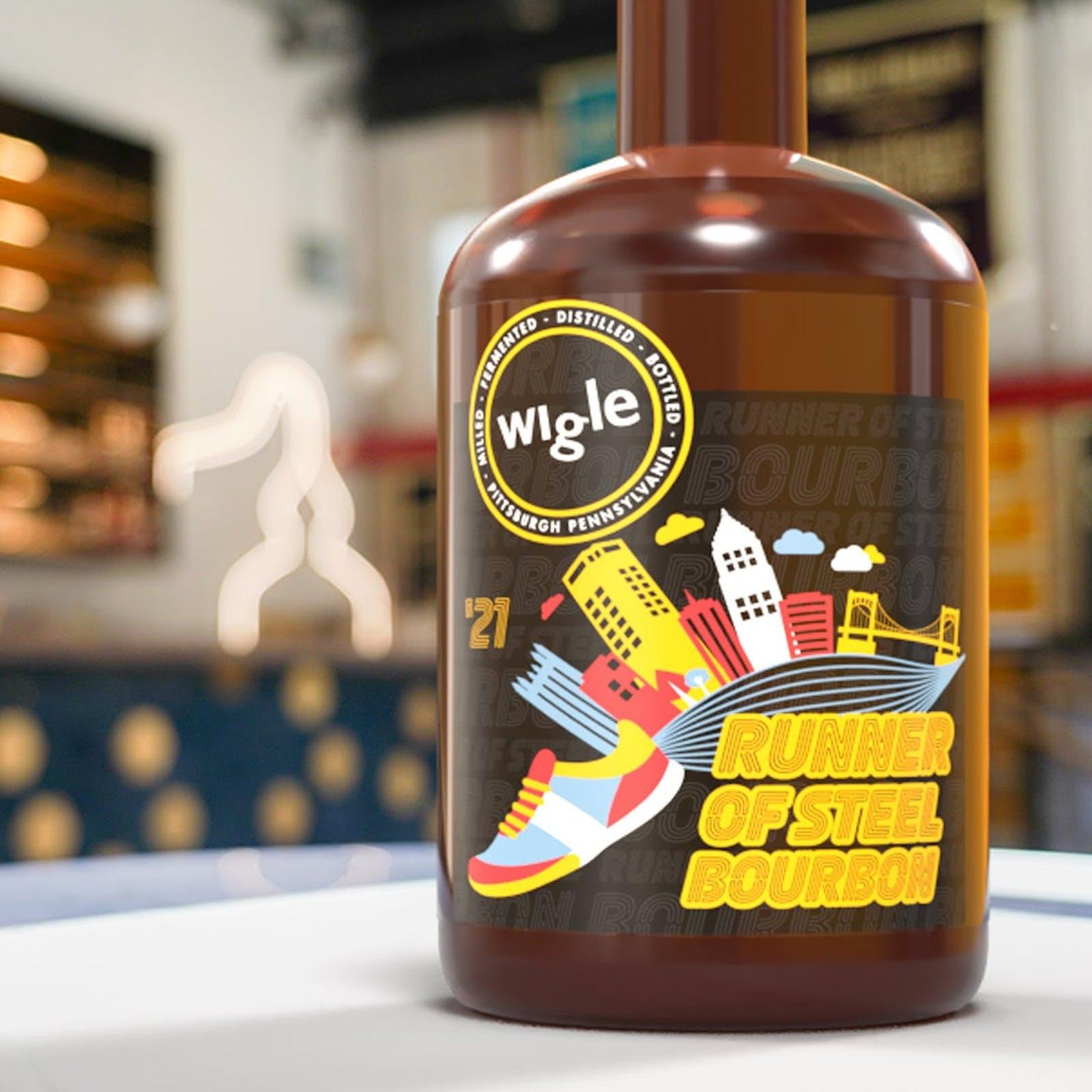 Bottle of Wigle Whiskey