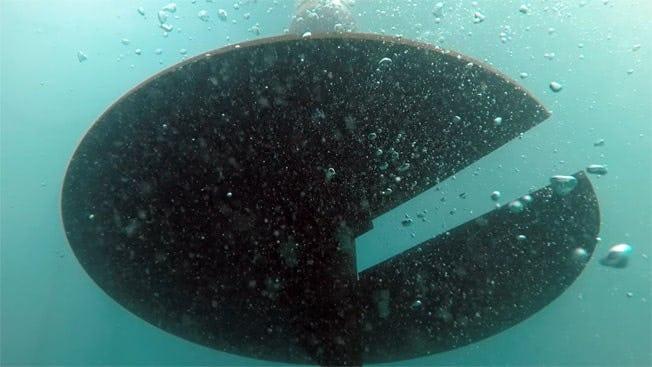 Screw anchor for elastic mooring installation