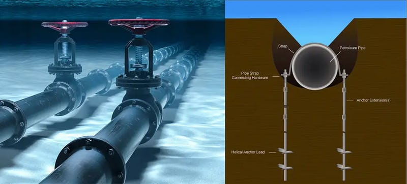 Oil and Gas subsea structures & outfall pipes
