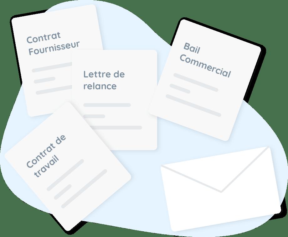 modèle document contrat courrier personnalisé