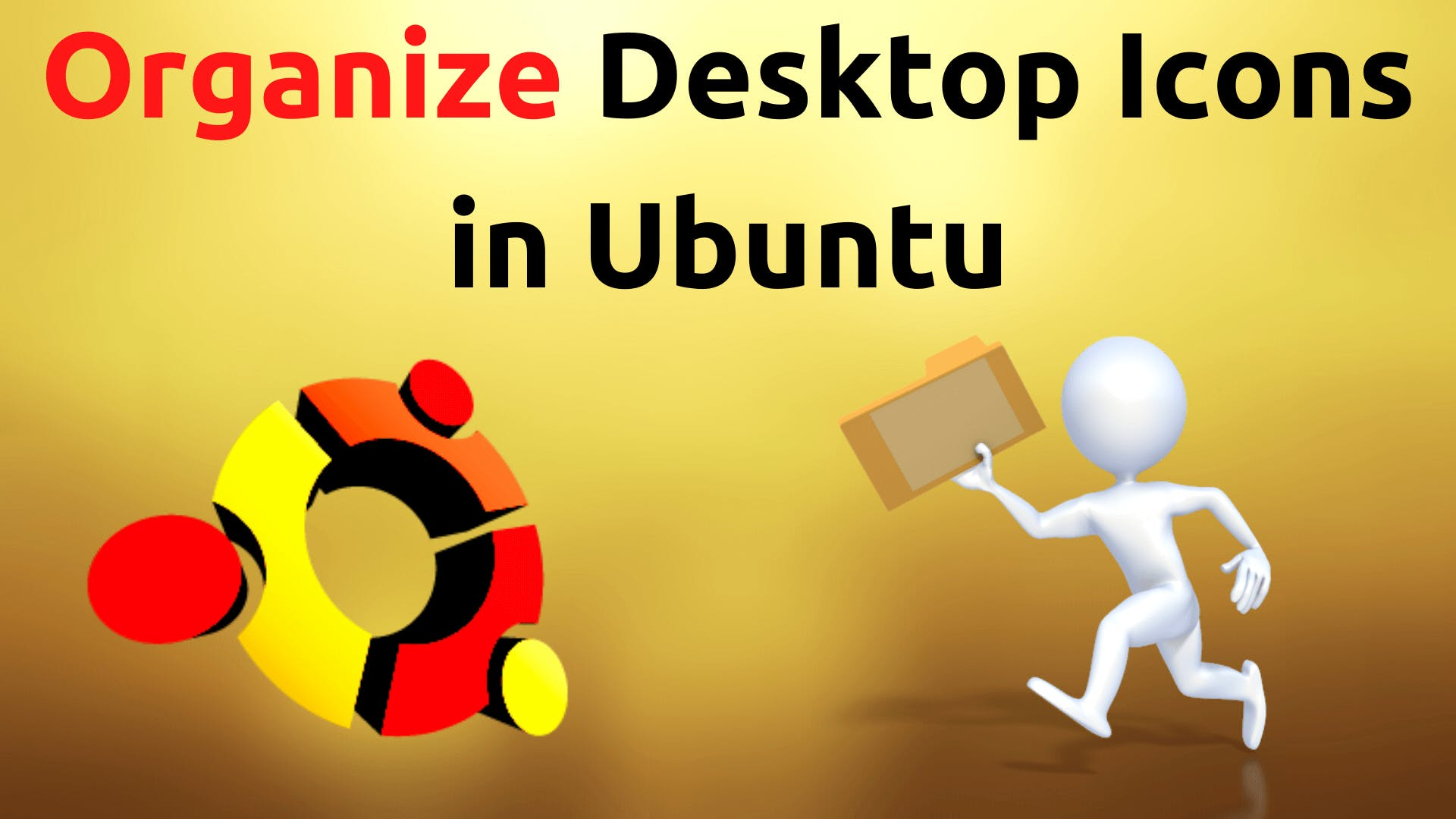 organize desktop files in Ubuntu