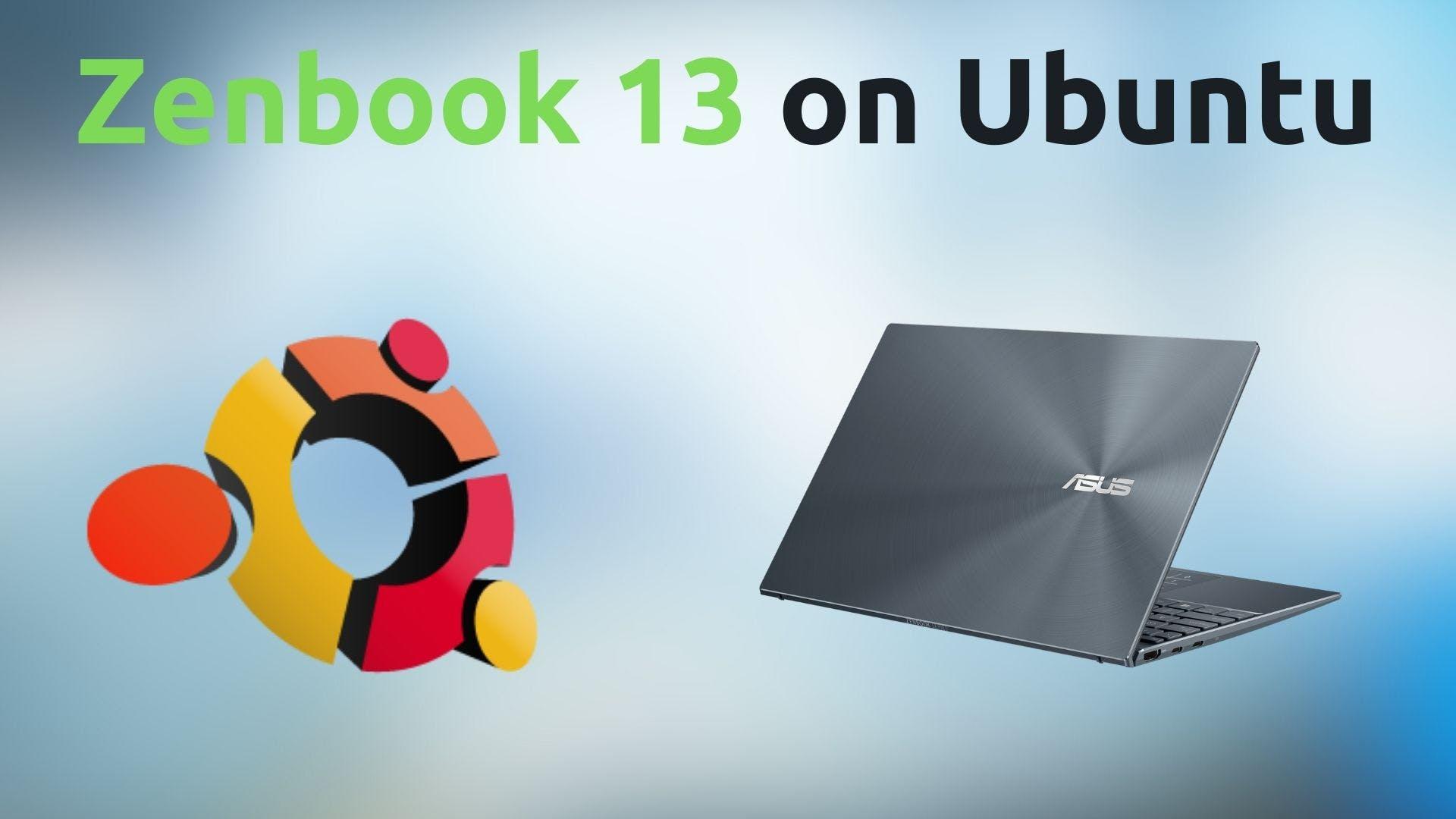 zenbook 13 and ubuntu logo