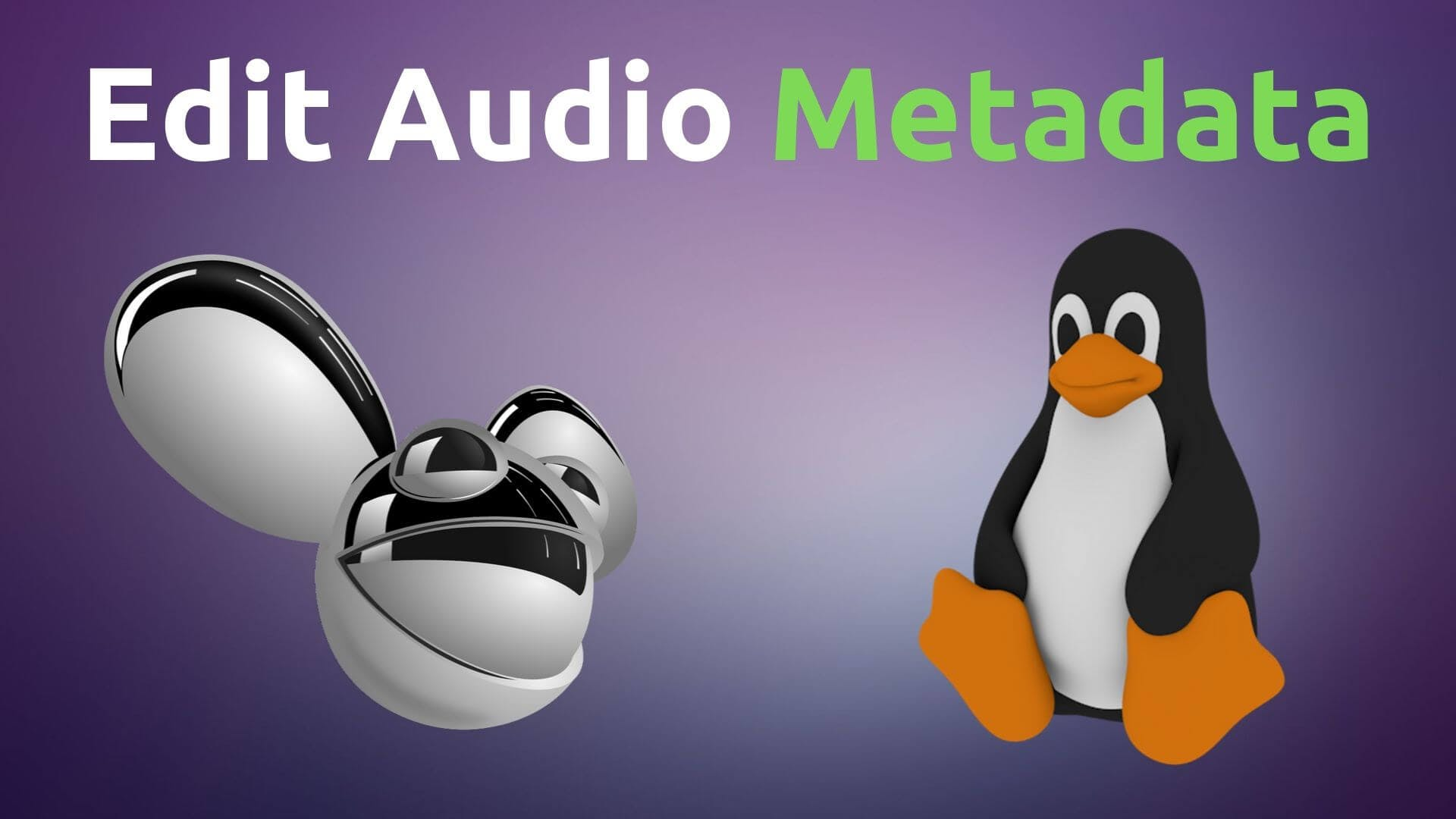 deadmau5 head and linux penguin
