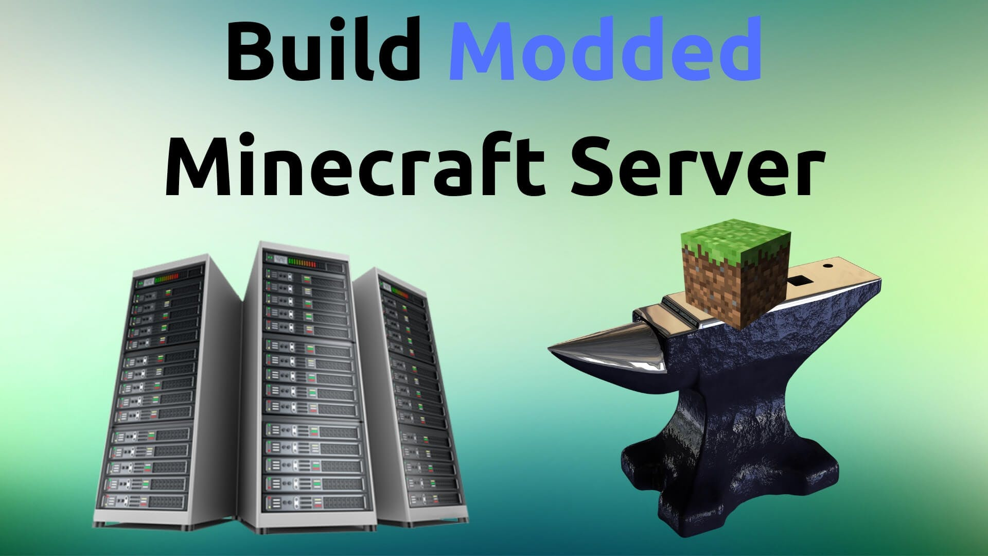 modded minecraft server and a block on an anvil