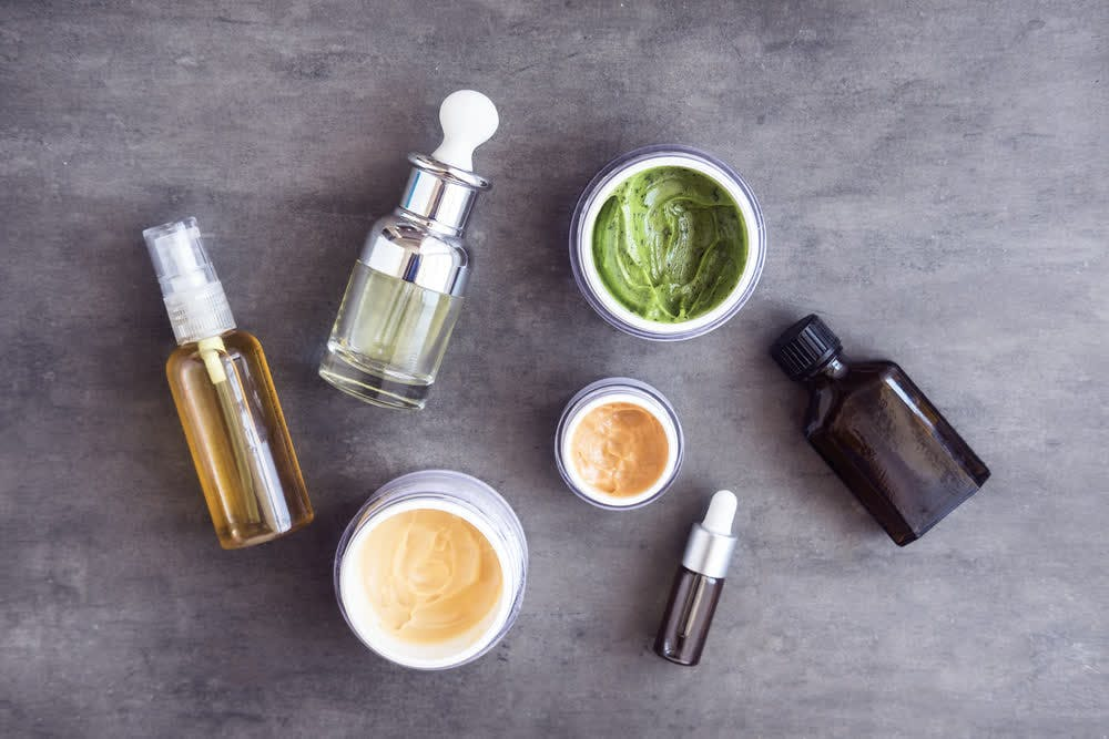 collection of skincare goods