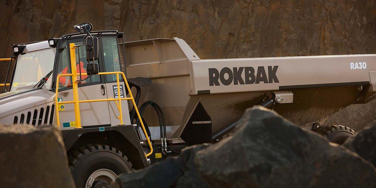 Rokbak är det nya namnet på Terex-dumprarna.
