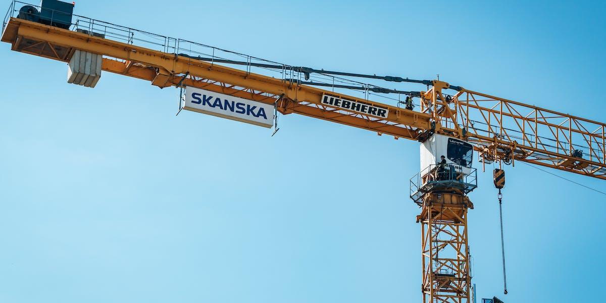 Skanska ligger högt upp på den europeiska topplistan för byggbolag.