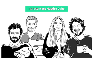 Les startups de Matrice Cube Illustration