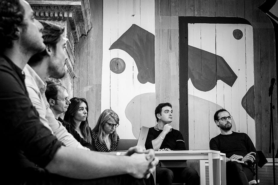 Le jury de Matrice Cube écoute le pitch d'une startup