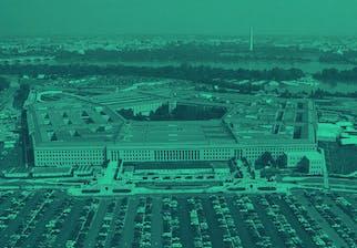 Vue aérienne du Pentagone à Arlington en Virginie (Etats-Unis)