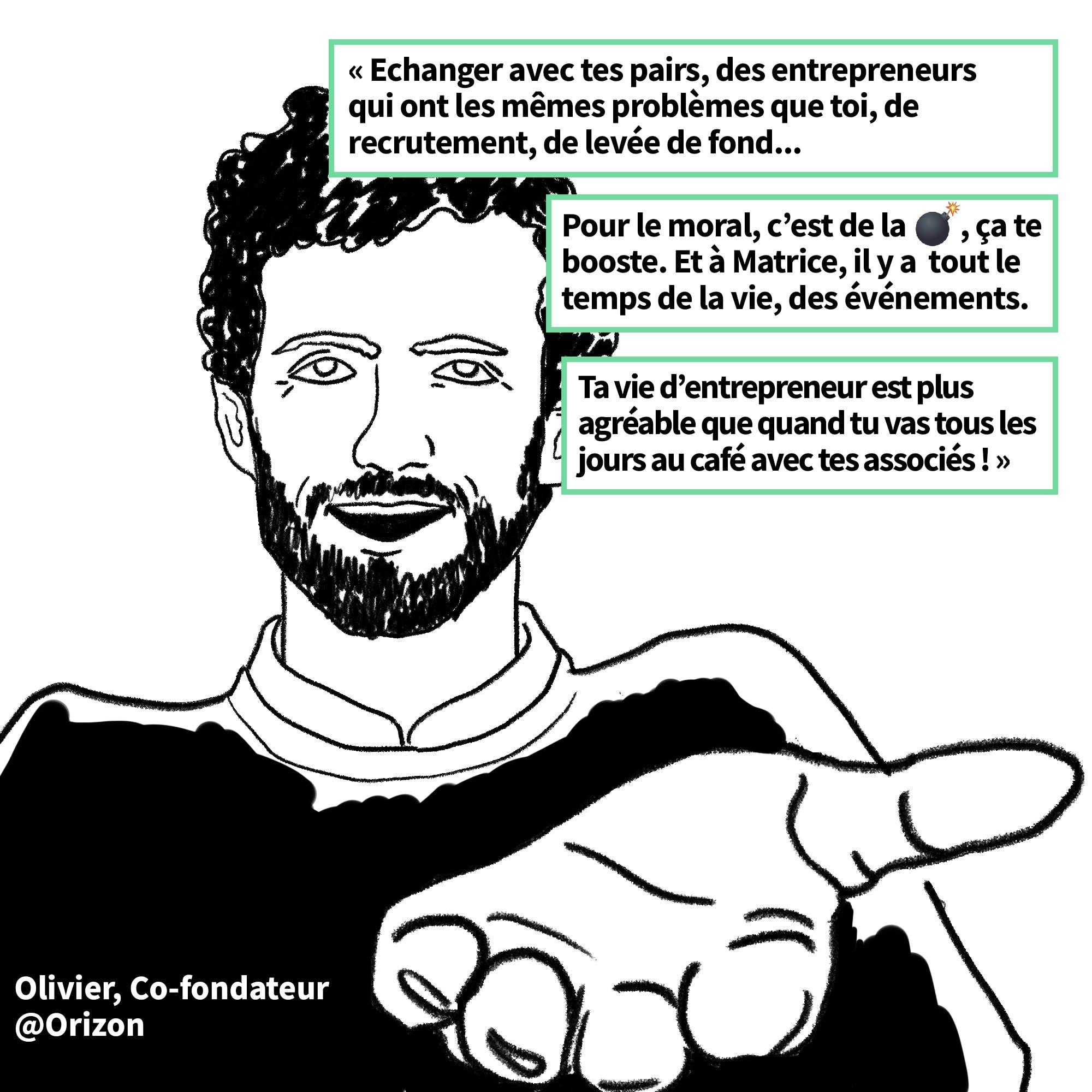 Olivier Hamelin de la startup Orizon