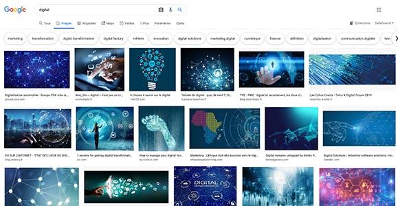 recherche google digital