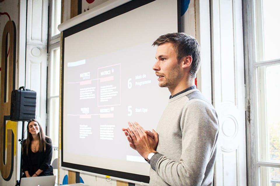 Thibaut de la startup Tulip raconte son expérience Matrice Cube