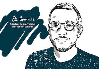 Illustration d'Eli Commins, directeur du programme artistique et culturel © Matrice