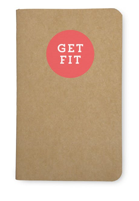 Simple workout tracker notebook: get fit.