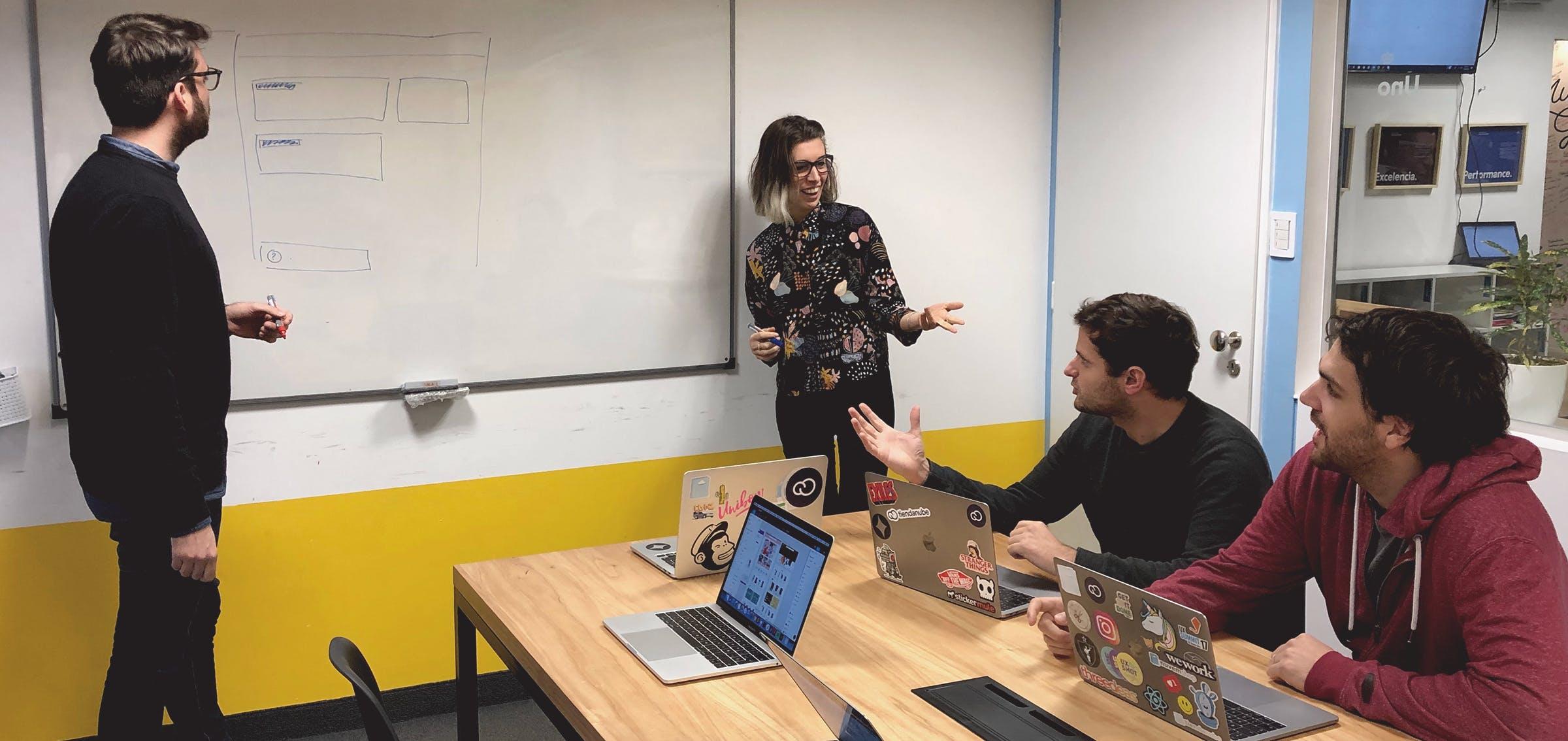 The Tiendanube design team