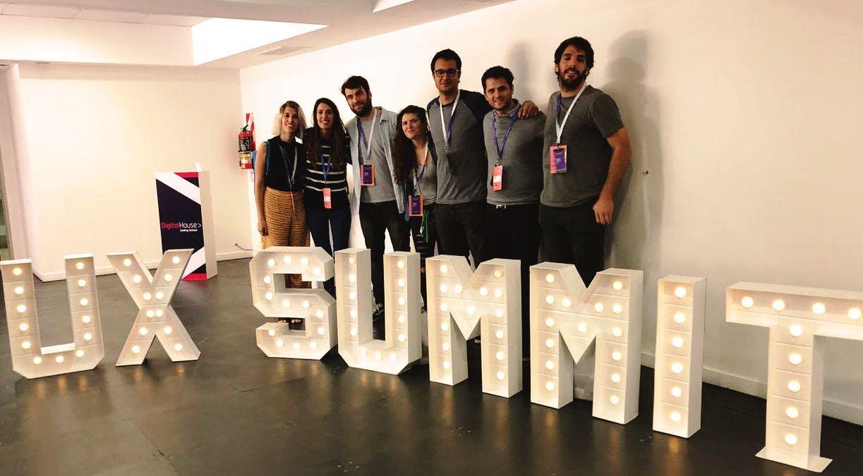 The Tiendanube design team at UX Summit