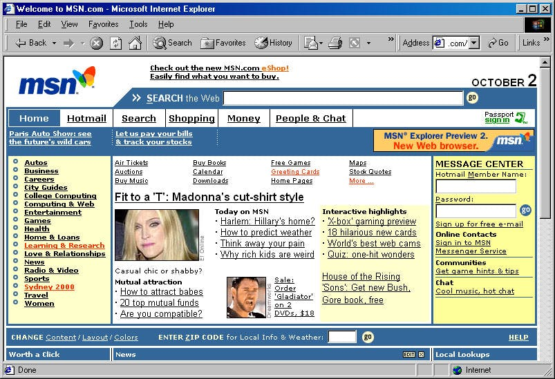 old MSN