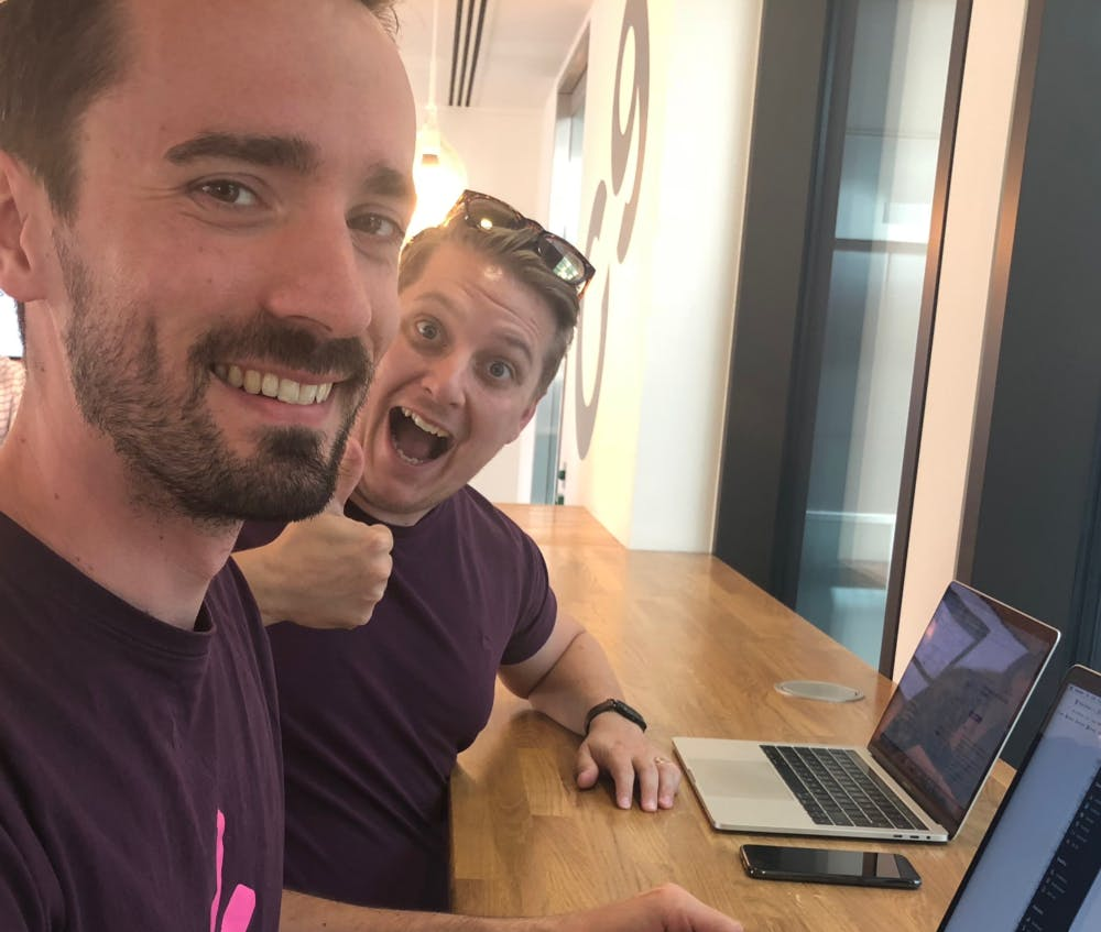 Greg, Engineer (left) and James, Head of Design (right)