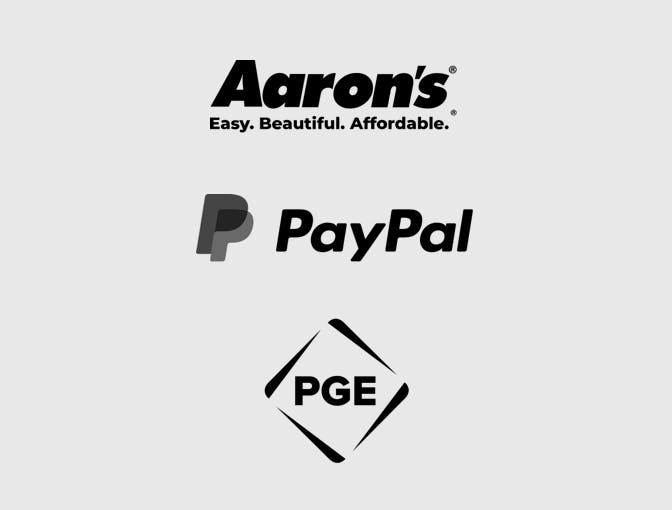 PayPal, Portland General Electric, Aaron's