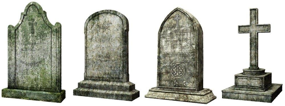 tombe et pierre tombale