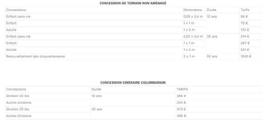 concession enfant- 10 ans 66€, adulte 133 €