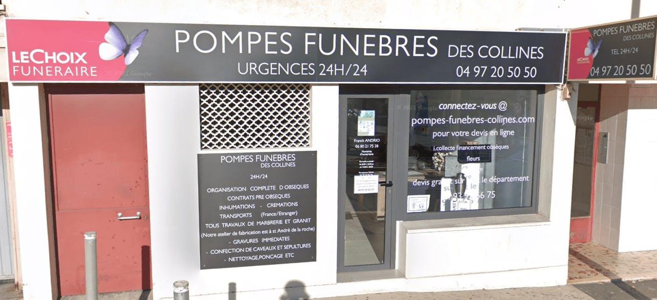 Photographie de la Pompes Funèbres DES COLLINES NICOISES - Le Choix Funéraire