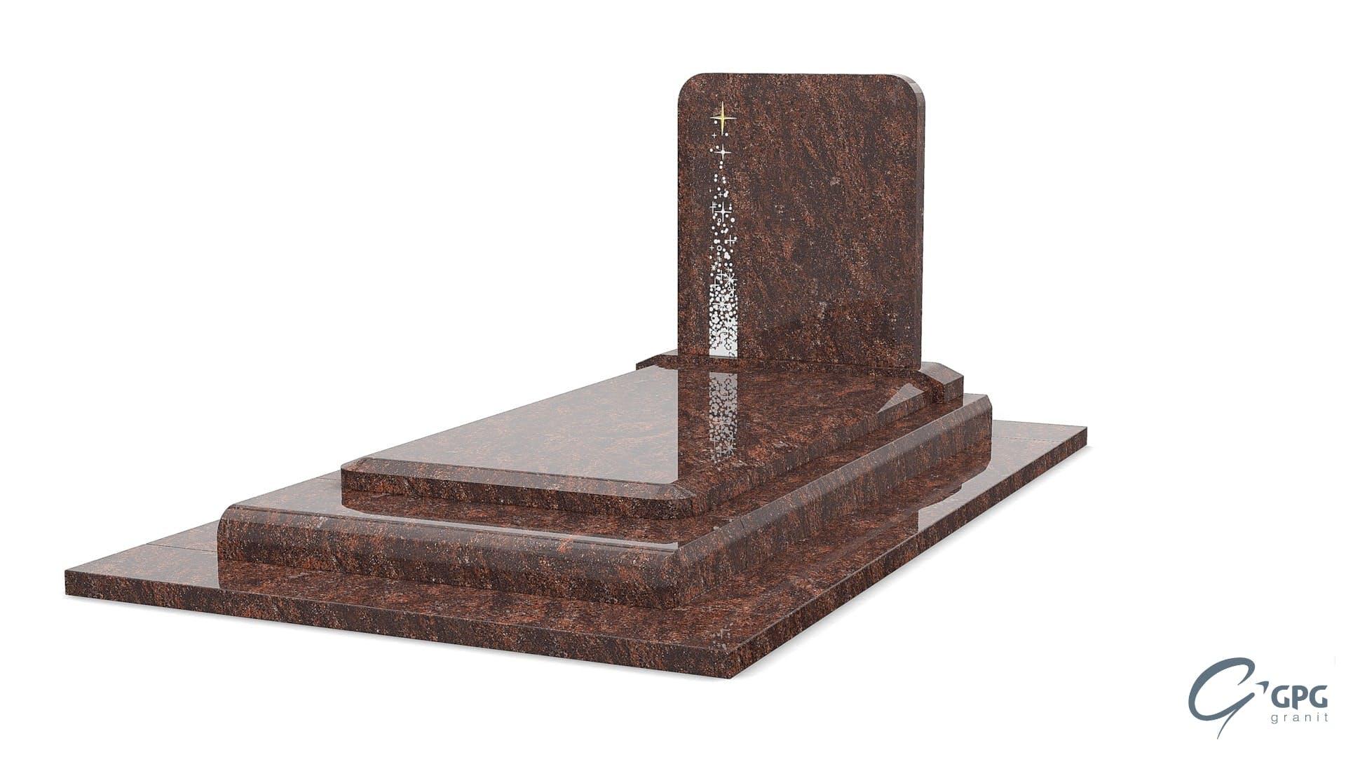 monument funéraire marron