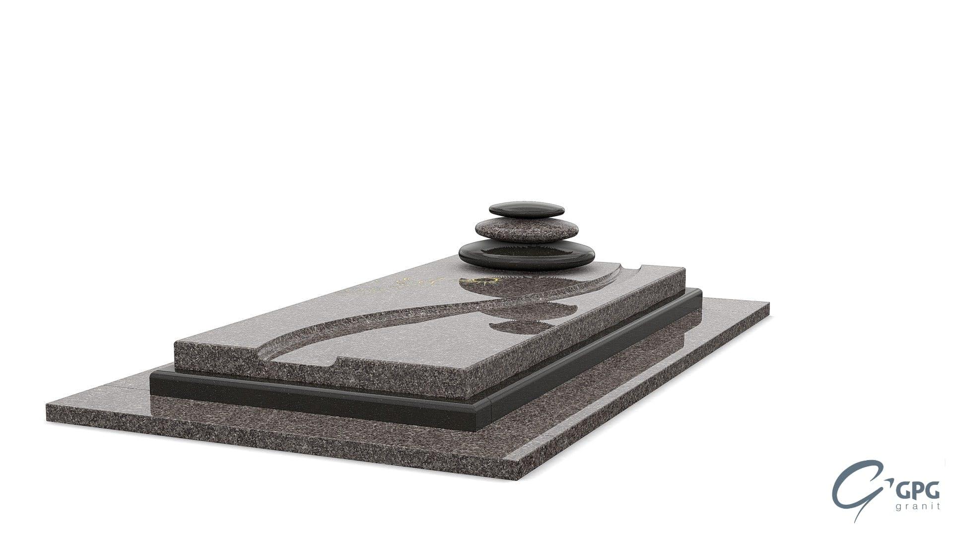 pierre tombale sans stèle