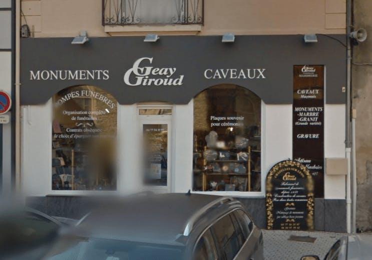 Photographie Marbrerie Geay Giroud de Chazelles-sur-Lyon