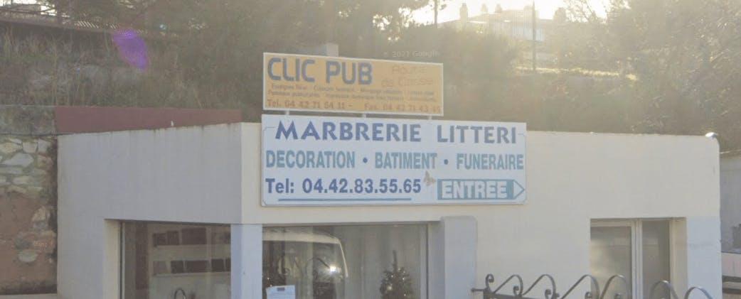 Photographie de la Marbrerie Daubinet-Litteri