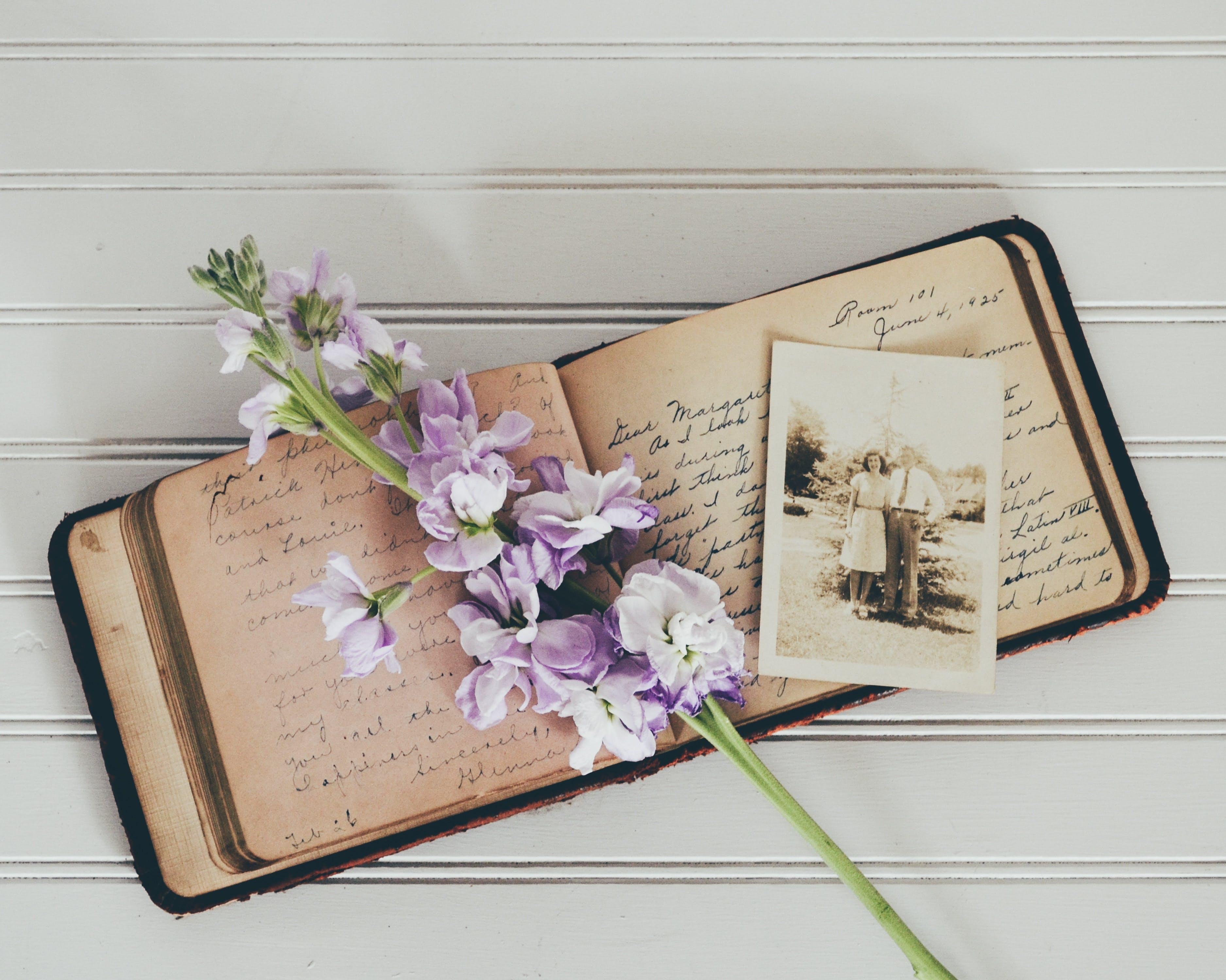 old-book-flower
