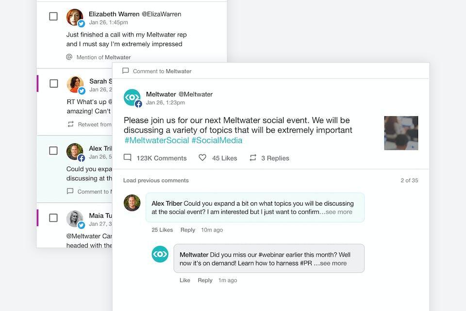 Screenshot zeigt engagement von social channels