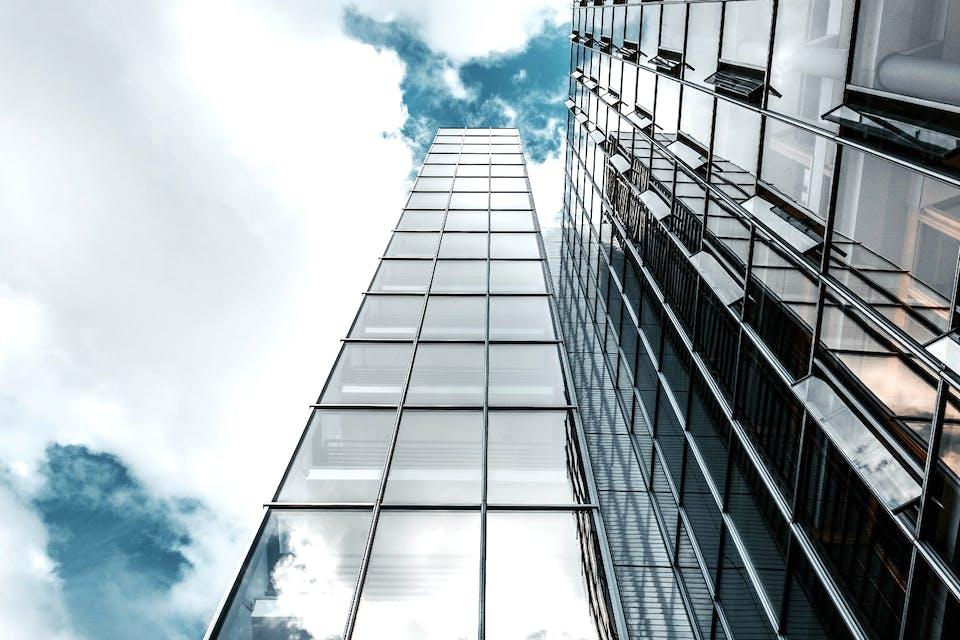glass building against sky