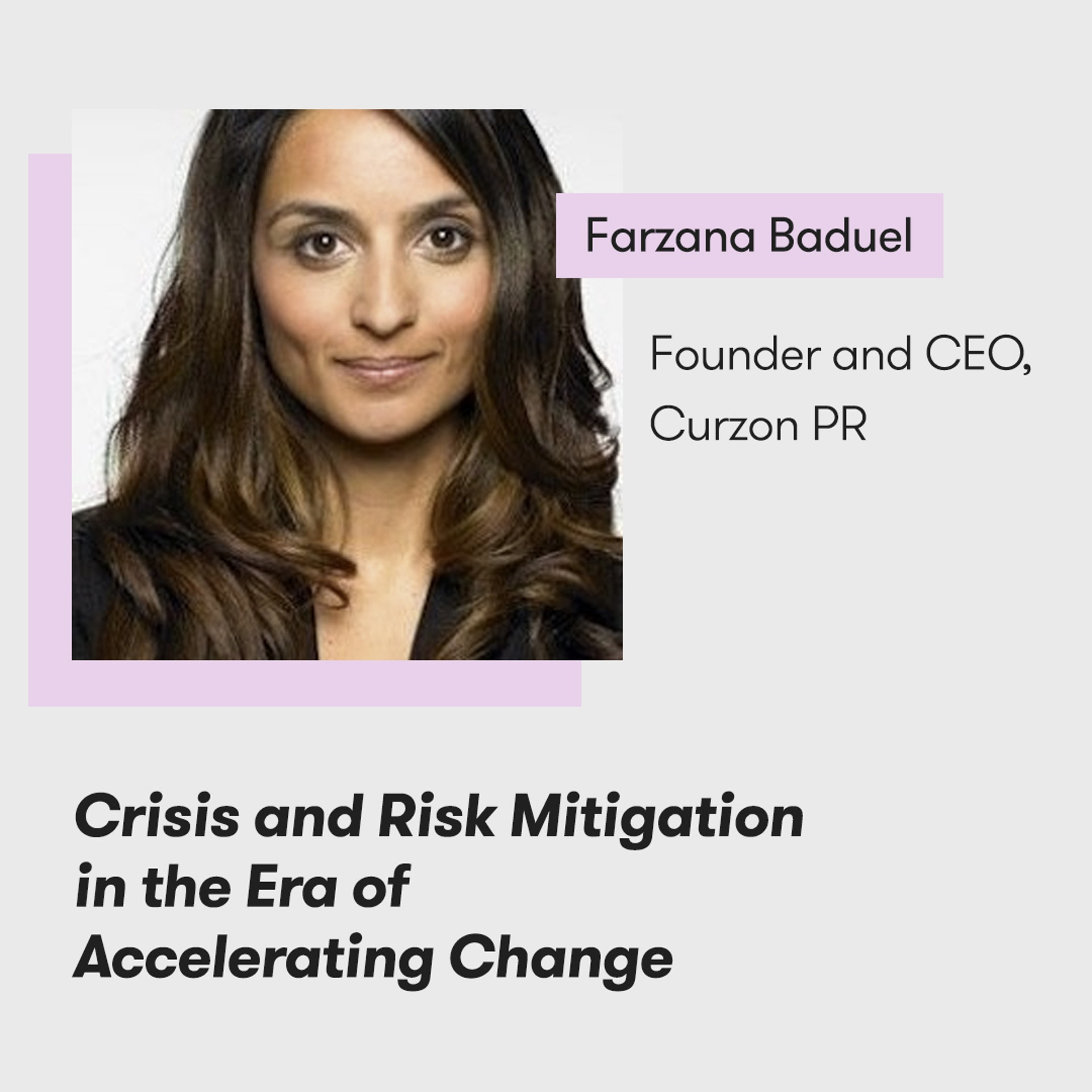 Meltwater Digital Summit - The Future of PR, Marketing and Tech - Farzana Baduel