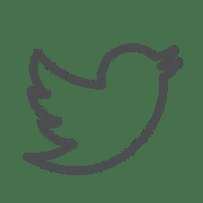 Twitter Symbol in grau