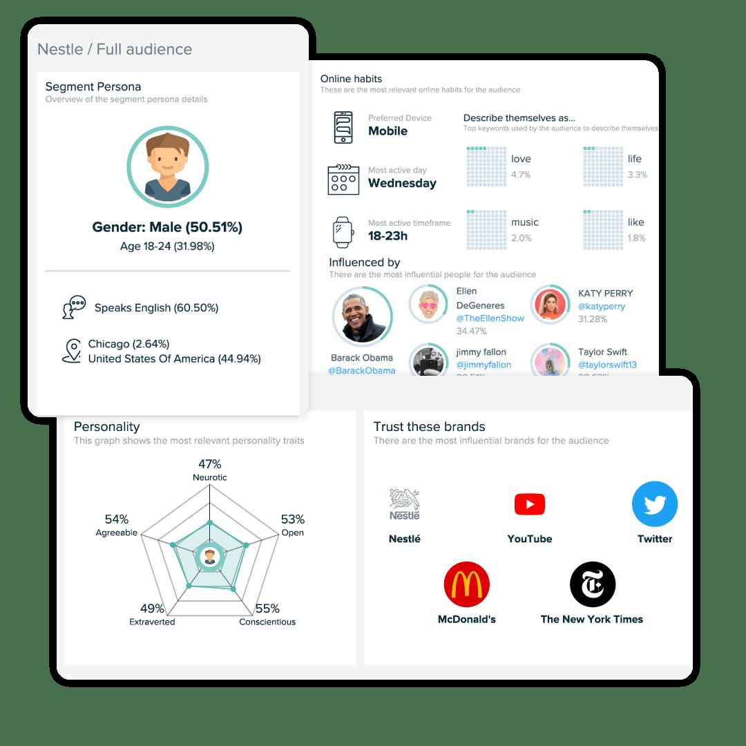 Graphic illustration of buyer profile data