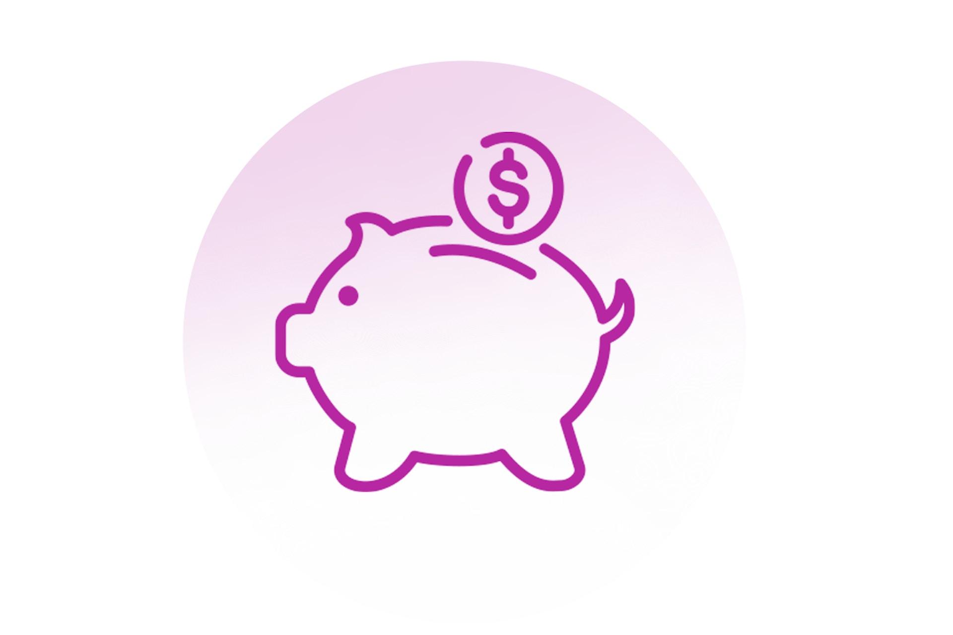 Graphic illustration of piggy bank