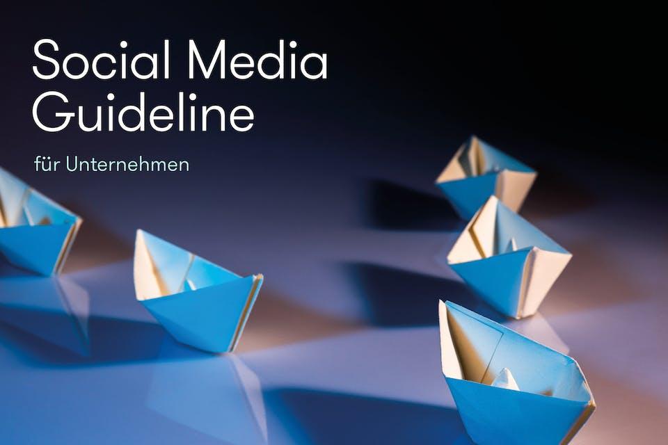 Social Media Guideline Cover Papierschiffe