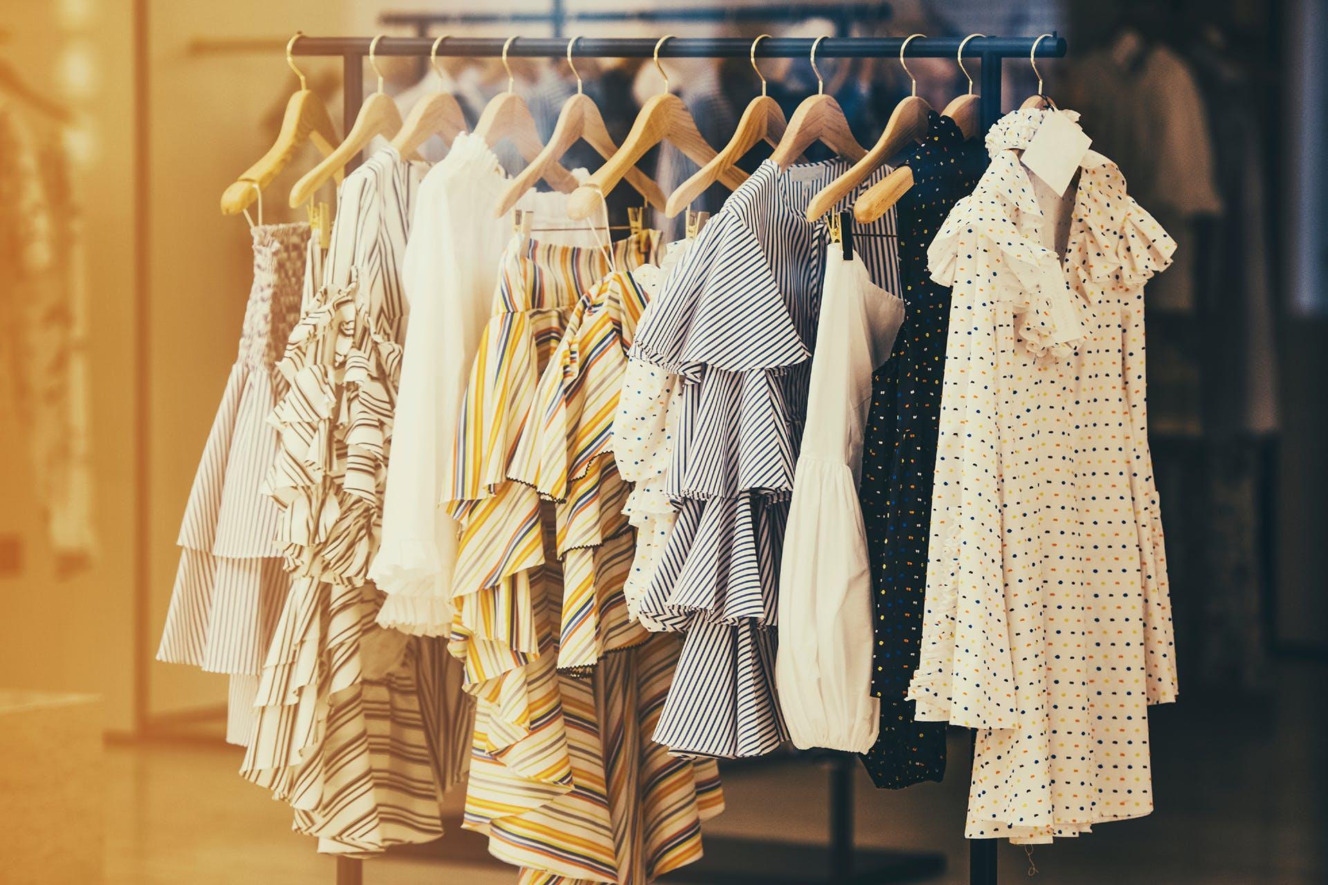 Bild einer Kleiderstange