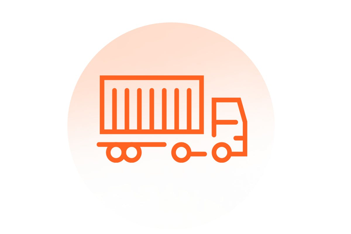 Graphic illustration of a truck