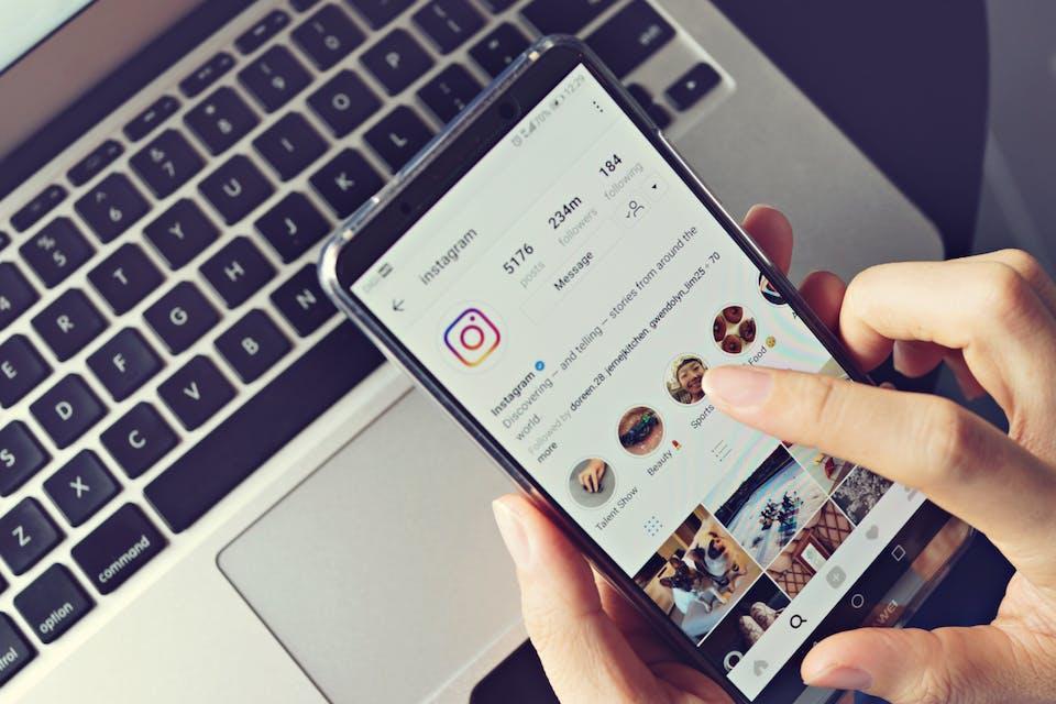 Instagram interface